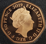 2019 Paddington at the Tower Gold Proof 50P - 600 issue Limit.