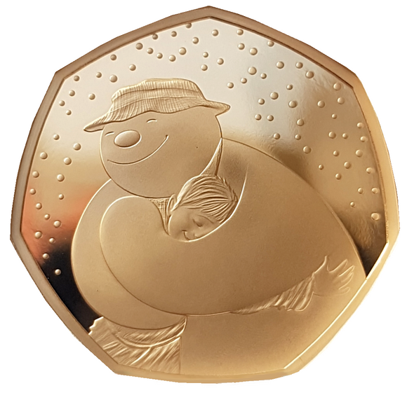 2020 Snowman' Gold Proof 50P - 275 issue Limit.