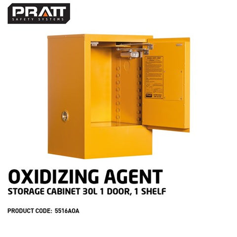 PRATT Oxidizing Agent Storage Cabinet 30L 1 Door, 1 Shelf
