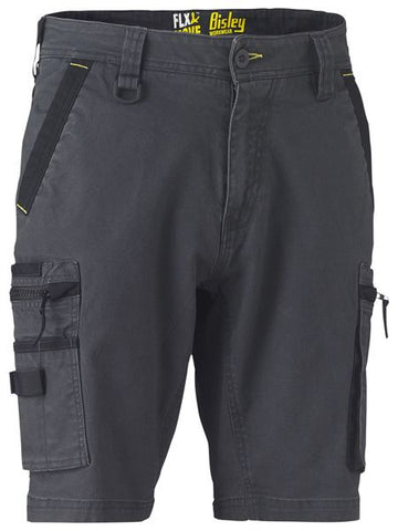 BISLEY - BSHC1330 - FLEX & MOVE™ STRETCH UTILITY ZIP CARGO SHORT - CHARCOAL