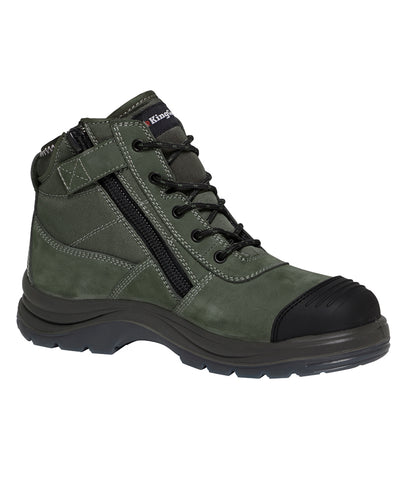 KING GEE - K27110 - TRADIE 130MM (5 INCH) SIDE ZIP - OLIVE