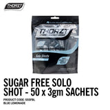 THORZT Sugar Free Solo Shot - 50 x 3gm Sachets - Blue Lemonade