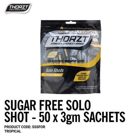 THORZT Sugar Free Solo Shot - 50 x 3gm Sachets - Tropical
