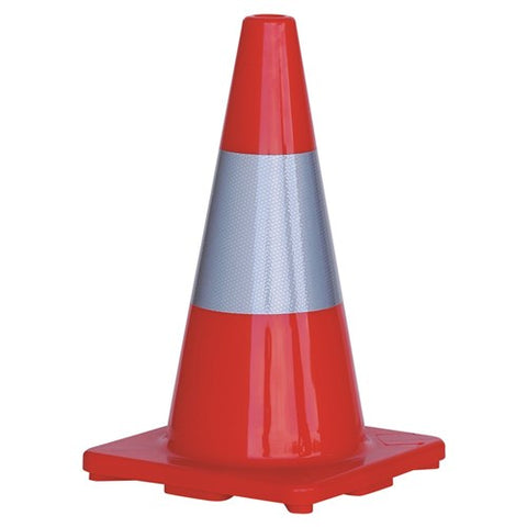 ProChoice® Orange PVC Traffic Cone / Reflective Tape 450mm
