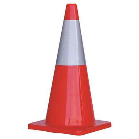 ProChoice® Orange PVC Traffic Cone / Reflective Tape 700mm