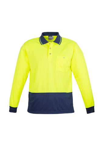 SYZMIK - ZH232 - UNISEX HI VIS BASIC SPLICED POLO - Y/N LONG SLEEVE