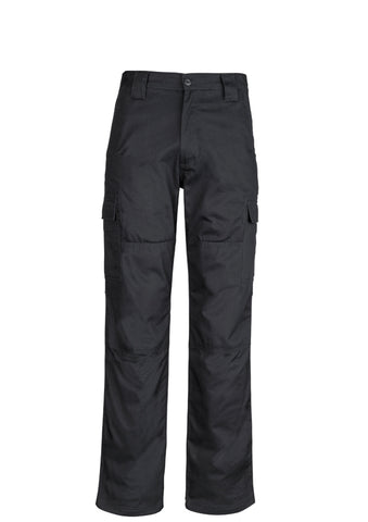 SYZMIK - ZW001 - MENS MIDWEIGHT DRILL CARGO PANT - BLACK