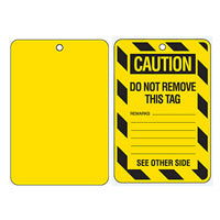 Blank Yellow Large Economy Tags
