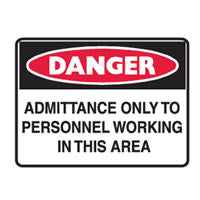 METAL DANGER SAFETY SIGNS 300mm x 450mm