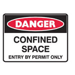 SELF ADHESIVE DANGER VINYL SAFETY SIGNS 180mm x 250mm
