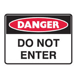 POLYPROPYLENE DANGER SAFETY SIGNS 300mm x 450mm