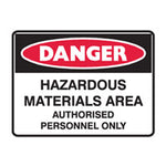 METAL DANGER SAFETY SIGNS 450mm x 650mm