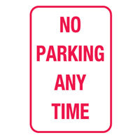 Parking & No Parking Sign - No Parking Any Time