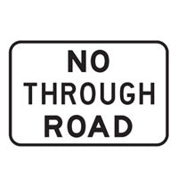 Directional Traffic Sign - No Through Road