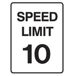 Speed Limit Sign - Speed Limit 10