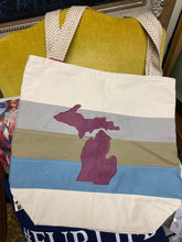 Load image into Gallery viewer, Michigan Canvas Tote Bag w/ Pockets