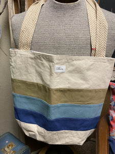 Michigan Canvas Tote Bag w/ Pockets