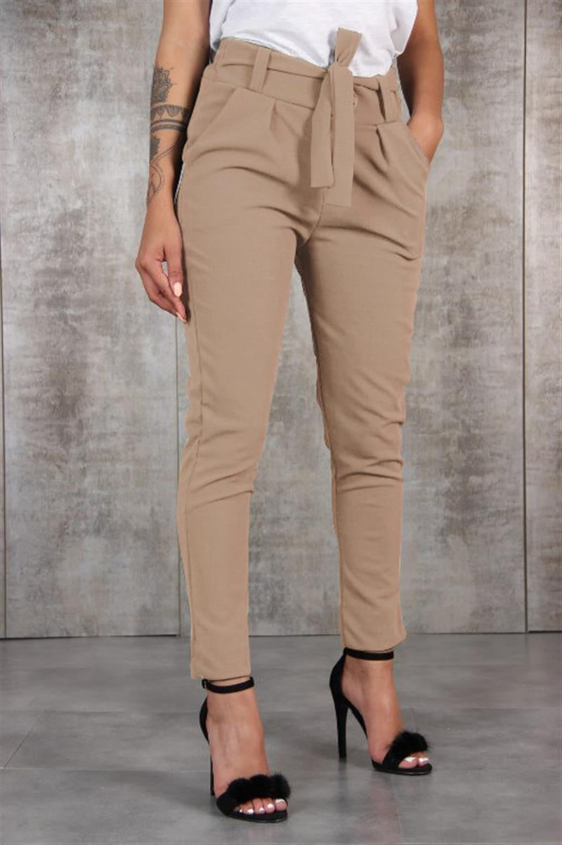 Bandage Casual Ladies Pencil Pants