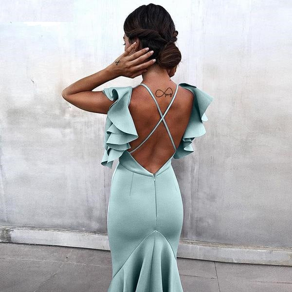 Backless Fishtail Party Dress