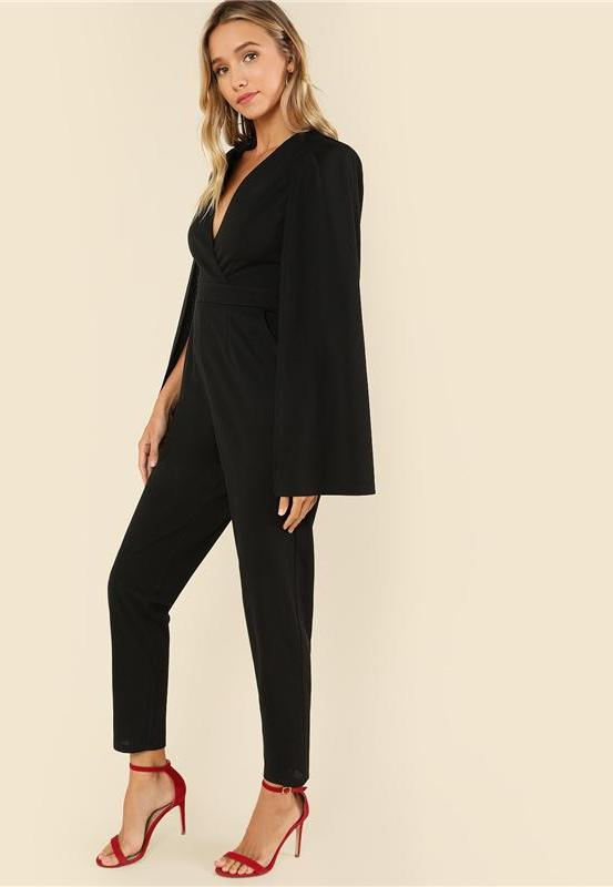 Black Party High Waist Jumpsuit