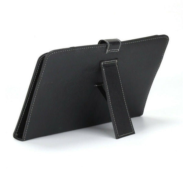 Black PU+PC leather Case cover + Built-in Keyboard for 10.1 Inch Tablet