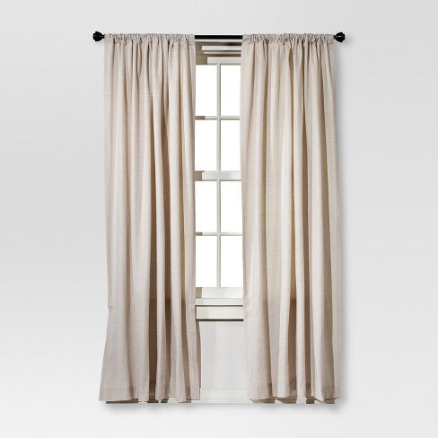 "84""x54"" Farrah Curtain Panel Cream - Threshold"