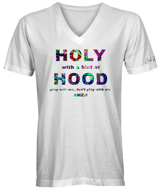 Abstract Holy Hood V-neck T-shirt