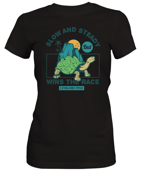 Slow and Steady Wins Turtle Women's T-Shirts