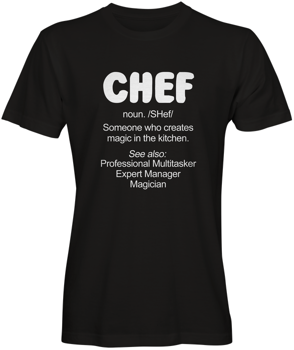 Definition of a Chef T-shirts