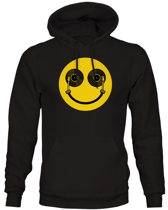 Happy DJ Vinyl Records Inspired Hoodie