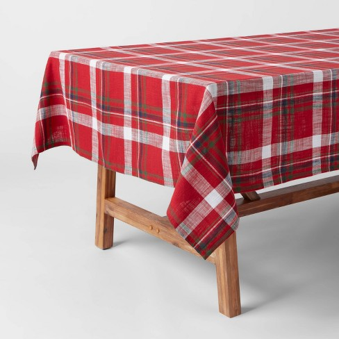 "104"" x 60"" Cotton Multi-Plaid Tablecover - Threshold"
