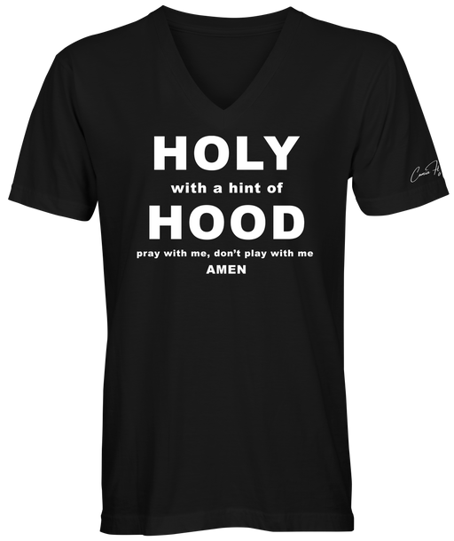 Holy Hood V-neck from the Comia Flynn Collection
