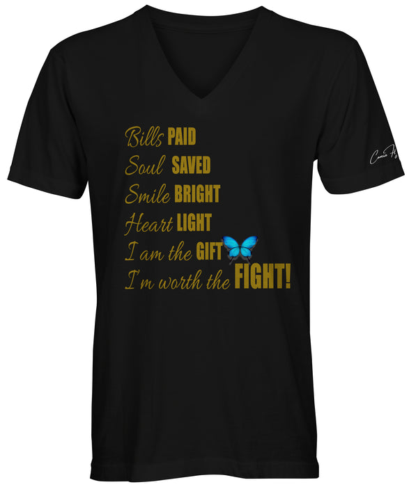 I'm Worth the Fight Gold Foil Plus Sizes