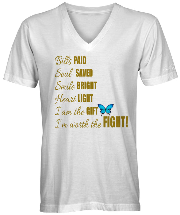 I'm Worth the Fight Gold Foil T-shirts