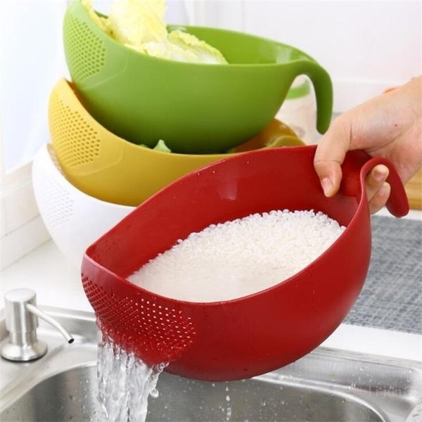 Rice Washer Quinoa Strainer Cleaning with Handle
