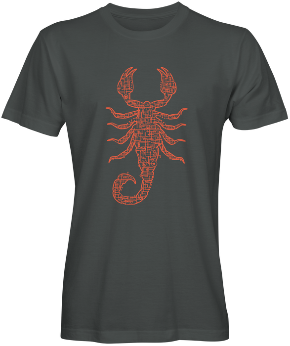Scorpion Sketched Inspired T-shirts