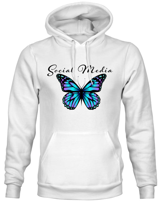 Social Media Butterfly hoodies