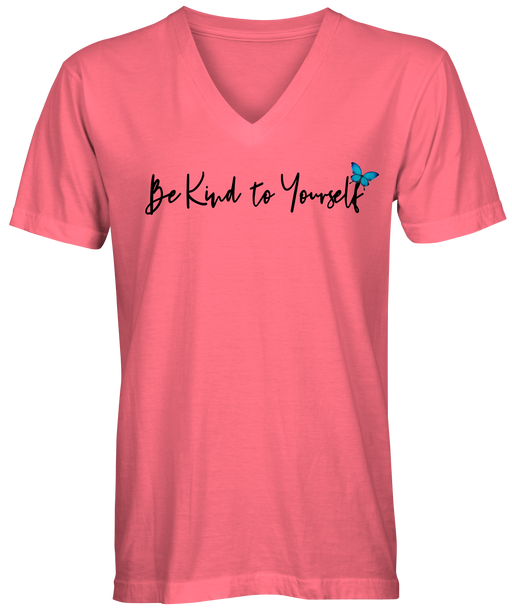 Be Kind To Yourself V-Neck Slogan T-shirt
