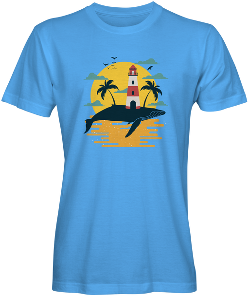 Whale Lighthouse Beach T-shirts