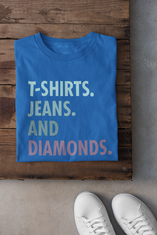 Jeans and Diamonds Ladies Fitted T-shirt