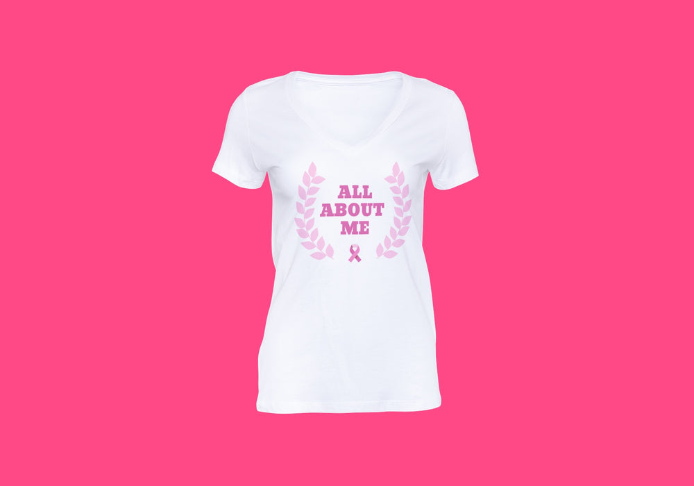 All About Me Pink Ribbon Tee