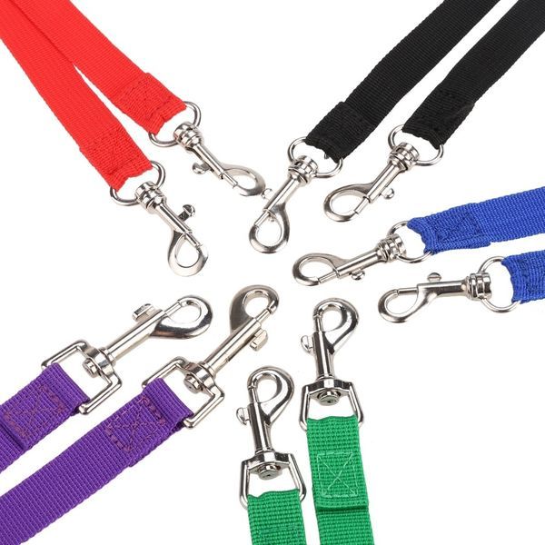 Nylon Strong Double Dog Lead Leash Couple Pet Collar Leash for Collar Harness