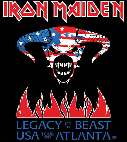 IRON MAIDEN ATLANTA CONCERT TEE Unisex Crew Neck Tee - FulFill4me - McQueen Graphics
