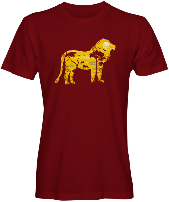 Lion Safari Design T-shirts