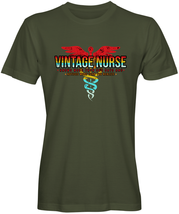 Vintage Nurse Graphic Tee
