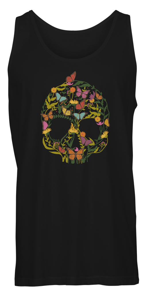 Colorful Skull Shape Flower Tank T-shirts