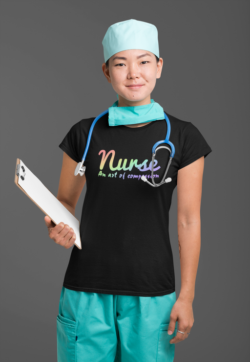 Nurse An Act of Compassion Ladies T-shirt