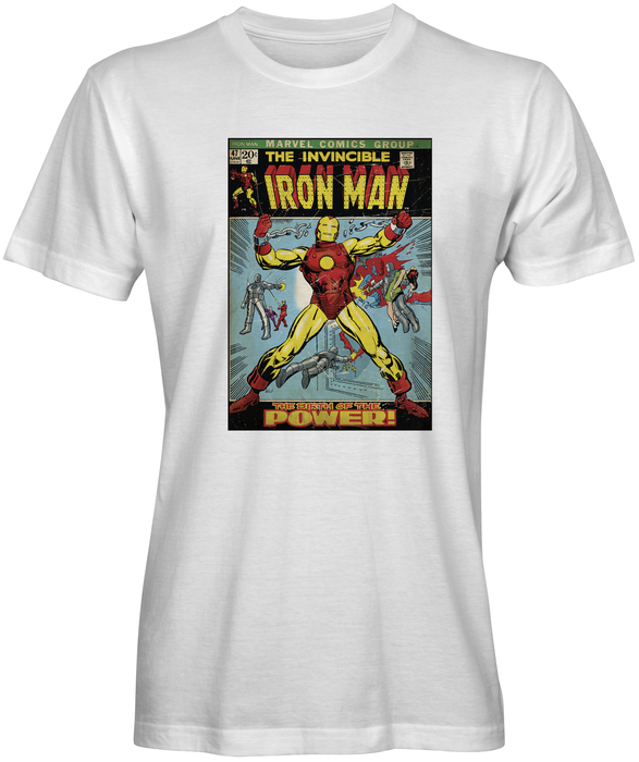 Vintage Invisible Iron Man  Crew Neck T-shirt- Fulfill4me