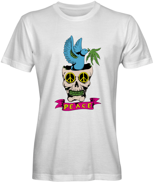 Peace Dove In Skull Graphic Tee