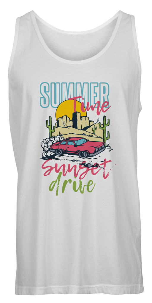 White Summer time Tank